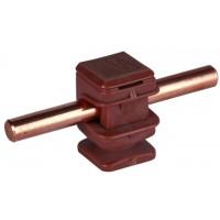 DEHN+SOHNE Держатель проводника DEHNsnap h=16мм Rd=8мм M6 пластик коричневый (204007)