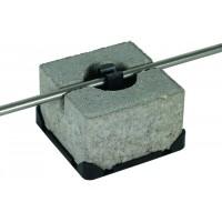 DEHN+SOHNE Держатель проводника на кровле тип FB с бетонным утяжелителем Rd=8мм пластик/бетон (253015)