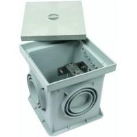 DEHN+SOHNE Пластиковый инспекционный лючок для подпольного монтажа тип UF с разделительной клеммой St/tZn 200x200x205мм (549050)
