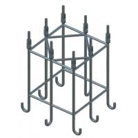 DEHN+SOHNE Стальной анкерный каркас для бетонного фундамента для мачт высотой 22,35, 24,85м (103041)