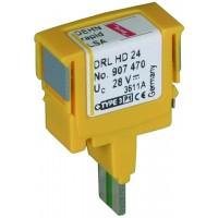 DEHN+SOHNE Защитный штекер для вставного магазина DRL DEHNrapid LSA 24 В (907470)