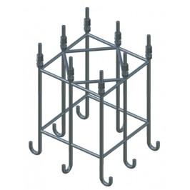 DEHN+SOHNE Стальной анкерный каркас для бетонного фундамента для мачт высотой 22,35, 24,85м